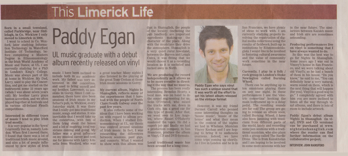 the limerick life paddy egan